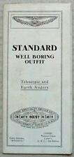 STANDARD WELL BORING OUTFIT Telescopic & Earth Augers Sales Brochure USA