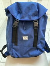 BNWT New Herschel Iona Blue Eclipse Crosshatch Backpack