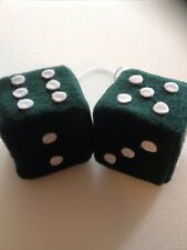 New Dark Green And White Dots Car Dice