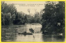 cpa SAINT MAURICE (Val de Marne) Le PASSEUR du RESTAURANT des 7 ARBRES Pêcheurs