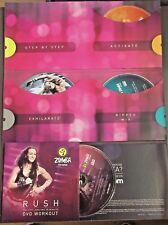Zumba Exhilarate Body Shaping 3 DVD w/ Rush 20 Min Work Out & Zumba Hand Weights