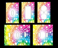 RAINBOW STARS IMAGE Light Switch Covers Home Decor Outlet MULTIPLE OPTIONS