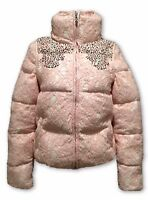 PATRIZIA PEPE PINK LACE DOWN PUFFER JACKET WITH REMOVABLE SLEEVES, 38, $1250