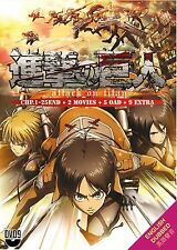 Attack on Titan (Vol 1-25 End + 2 Movies + 5 OAD + 9 Extra) with English Dubbed