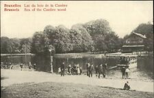 Bruxelles Brussels Sea of the Cambre Wood Ferry c1910 Postcard
