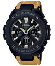 Casio G-Shock G-STEEL *GSTS120L-1B Solar Black & Mustard Leather COD PayPal