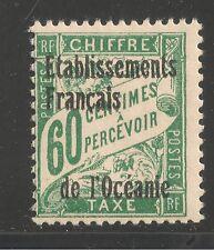 French Polynesia #J6 (D1) FVF MINT LH OG - 1926 60c Postage Due