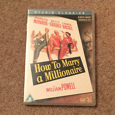 How To Marry A Millionaire (DVD) Marilyn Monroe Betty Grable Lauren Bacall