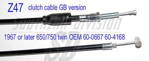 GB clutch cable 650 750 triumph 67-82 Kupplungszug 60-3076 60-0667 60-4168 D3079