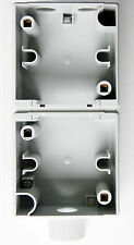 Boîtier semi-étanche double vertical NIKO HYDRO 55