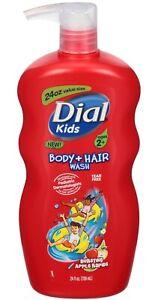 Dial Kids Body & Hair Wash Bursting Apple Rapids 24 oz. Tear Free Ages 5+