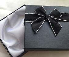 6 pack Bracelet bangle gift box with satin style bow with silver edge ribbon