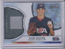 2011 Bowman sterling Hoby Milner USA Baseball jersey Referactor