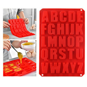 Alphabet Letter Silicone Mould Stencil Cake Jelly Cupcake Ice Chocolate Mold UK
