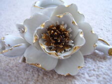 Lladro type Hispania porcelain  candle stick with flowers,flower encrusted