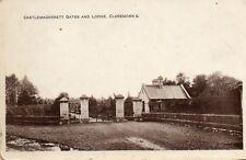 More details for castlemagarrett gates & lodge claremorris co mayo ireland rp postcard. p crowley