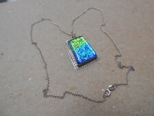 Signed Raw-Comes On Silver Chain Zuni Pendant With Stone Sterling Silver