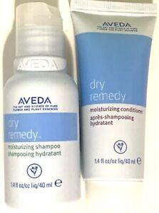 Aveda Dry Remedy Moisturizing Shampoo and Conditioner 1.4 oz /40mL Same Day Ship