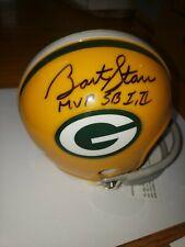 Bart Starr Green Bay Packers Signed Mini Helmet With MVP SB I II Tri Star HOLO