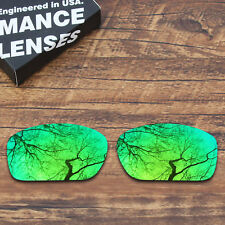 T.A.N Polarized Replacement Lenses for-Oakley Scalpel Sunglasses Green Mirrored