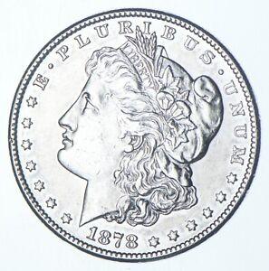 RARE - 1878-S Morgan Silver Dollar - Very TOUGH - High Redbook *954