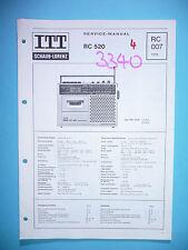 Service manual manual for ITT/Schaub-Lorenz RC 520 ,ORIGINAL
