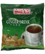 Gold Kili Natural Instant Ginger Tea Drink, 360g Bag (20 Sachets)