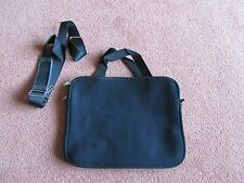 "Black 12"" Neoprene Soft Sleeve Laptop Bag with handle and strap"