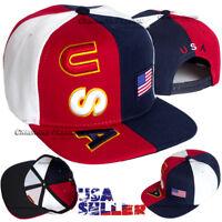 USA Baseball Cap American Flag Embroidered Hat Snapback Adjustable Mens Caps
