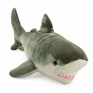 LIVING OCEAN MINI TIGER SHARK PLUSH SOFT TOY 30CM STUFFED ANIMAL WILD REPUBLIC
