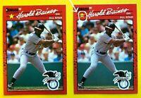 1990 NO DOT HAROLD Baines 2 ERRORS & Correct DONRUSS All-Star CARD #660 Baseball