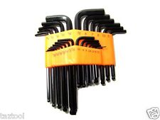 25 pc Hex Key Allen Wrench Long and Short arms Metric and SAE set Ball end Type