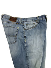 Lucky Brand Mens 181 Relaxed Straight Blue Jeans Faded Distress Slub Size 32x32