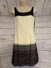 FAB Behnaz Sarafpour Target Black White Lace Sheath Dress Size 5 Sleeveless NWT