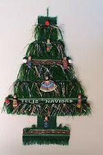 Guatemala Christmas Tree Wall Hanging Weaving Hand crafted Feliz Navidad Festive