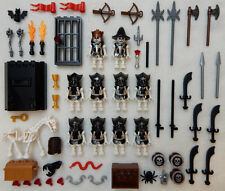 10 NEW LEGO CASTLE KNIGHT MINIFIG LOT Skeleton figures minifigures evil undead