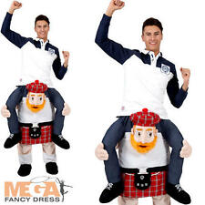 Carry Me Scotsman Mens Fancy Dress National Scottish Highlander Adults Costume