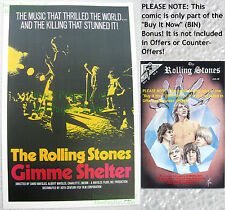 80's Vintage The Rolling Stones GIMME SHELTER Lobby Card Poster Litho +Bonus