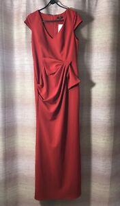 Quiz Red Bow Detail Maxi Dress Ladies Sz 16