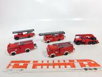 CA494-0,5# 5x Wiking 1:87/H0 FW/Feuerwehr Magirus: Drehleiter + Kran etc, TOP