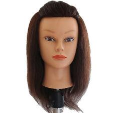 "Lian's 14-15"" 85% Human Hair Cosmetology manikin mannequin head brown color"