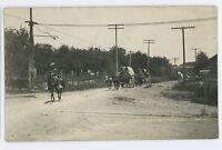RPPC Field Artillery Wagons GROVANIA PA Columbia County Real Photo Postcard