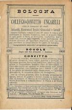Stampa antica pubblicità COLLEGIO UNGARELLI Bologna 1895 Old antique print