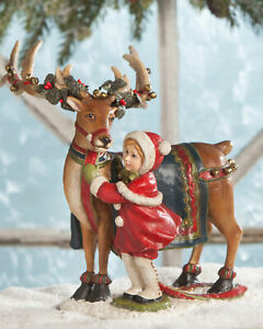 NWT Bethany Lowe Designs NEW Christmas Dressing the Reindeer Statue 25% OFF