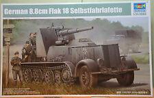 German 8.8cm Flak 18 Selbstfahrlafette  - kit carri trumpeter 1/35