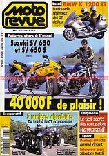 MOTO REVUE 3361 BMW K1200 LT HONDA XL 1000 YAMAHA 850 TDM XJ 900 SUZUKI SV 650