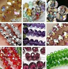 Wholesale New Multicolor Crystal Loose Beads 6x8mm / 4x6mm (70/100pcs)