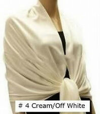 Pure Solid Pashmina Silk Cashmere Wool Shawl Scarf Stole Wrap New LONG 78X28