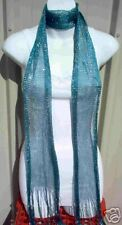 Ladies summer scarf wrap sash Glitter Teal