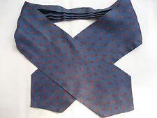 VINTAGE CRAVAT 60S 70S MOD SCOOTER SHIMMERY DARK BLUE RED ORANGE LOOP PATTERN